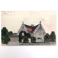 British Hand-painted Postcard of Cottage in Derbyshire, Unused, C. 1910