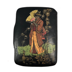 Japanese Lacquer Snuff Box with Woman in Kimono
