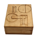 Little Wooden Box with Hand-carved Abstract Design