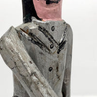 "Emile Bluteau "" Man and His Bear"" Canadian Folk Art Sculpture"