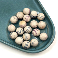 Unfired Hand-Painted Clay China Marbles - Sold Individually