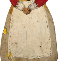 Dutch Woman Hand-painted Folk Art Wooden Doorstop