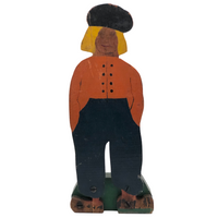 Dutch Man Folk Art Hand-painted Wooden Doorstop