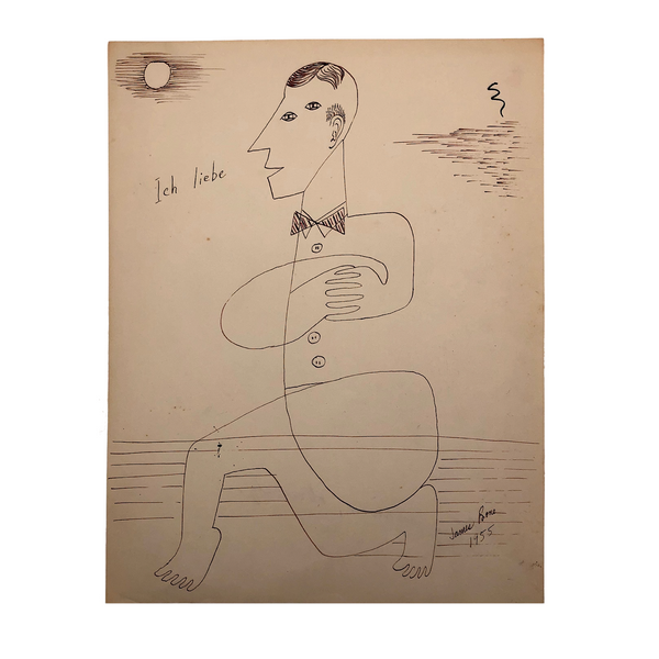 "James Bone, ""Ich Liebe"" (I am in love), ink drawing, 1955"