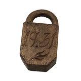 Miniature 1931 Carved Lock Whimsy Love Token?