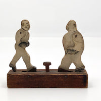 Antique Weston Toy Company Mechanical 19th Century Wooden Boxing Toy