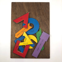 Vintage Wooden Color Theory Puzzle-hold for YB