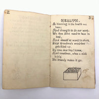 Handmade 1908 Children's Story Book with Sweet Drawings