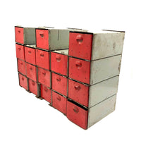 Fabulous Interlocking 18 Drawer Mid Century Industrial Cabinet, Presumed Dorman