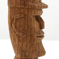 Man with Cap Small Carved Bust