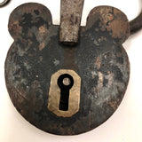 Old Mickey Mouse Ears Smokehouse Lock with Key