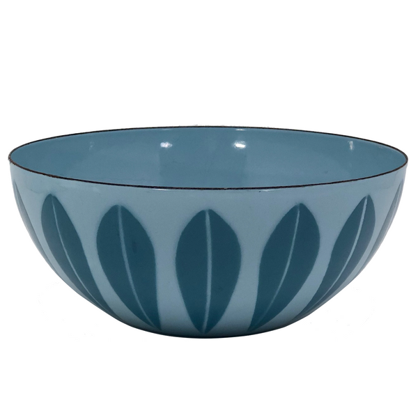 Catherineholm Blue on Blue 8 Inch Enamelware Lotus Bowl