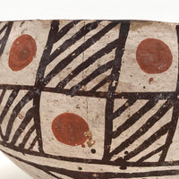 Antique Isleta Pueblo Native Pottery Bowl