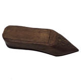 Carved Wooden Shoe Shaped Snuff Box