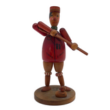 West German Wooden Hunter Figurine with Duck and Moving Parts