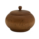 Small Round Lidded Wooden Treen Box