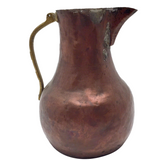 Hand Hammered Copper Pitcher with Gorgeous Patina