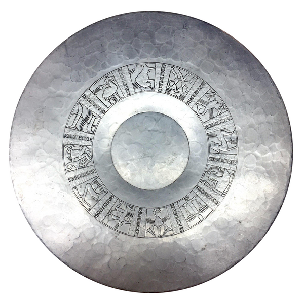 Stunning Arthur Armour Hammered Aluminum Zodiac Charger