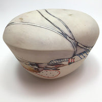 Contemporary Ceramic Vessel / 3 Dimensional Abstract Drawing
