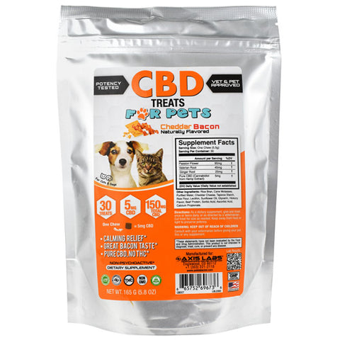 Axis Labs CBD Treat for Pets Cheddar Bacon 30 ea