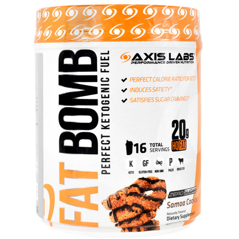 Axis Labs Fat Bomb Samoa Cookie 16 Servings