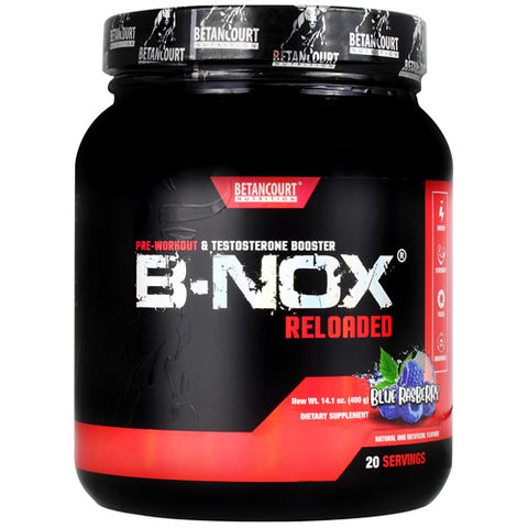 Betancourt Nutrition B-Nox Reloaded Blue Raspberry 20 ea