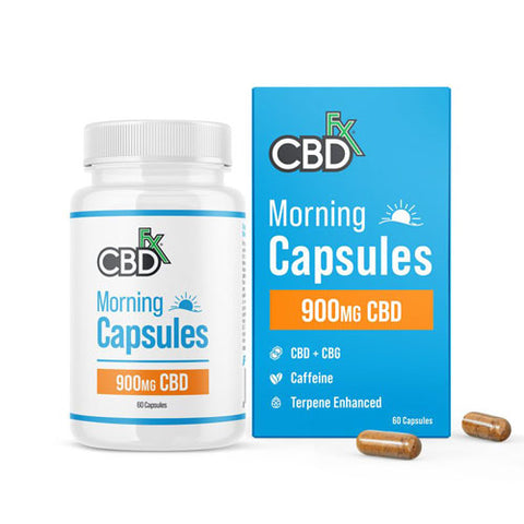 CBDfx CBD + CBG Morning Capsules For Energy & Focus 900mg