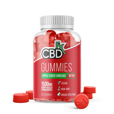 CBD Gummies For Detox with Apple Cider Vinegar 1500mg (60 Gummies)