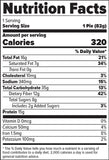FINAFLEX Redefine Nutrition Oatmeal Protein Pie Chocolate Peanut Butter (10/Box) Nutrition Facts