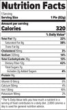 FINAFLEX Redefine Nutrition Oatmeal Protein Pie Double Chocolate Chip (10/Box) Nutrition Facts