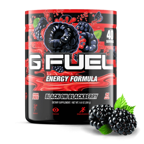 G Fuel Black on Blackberry Tub (40 Servings)