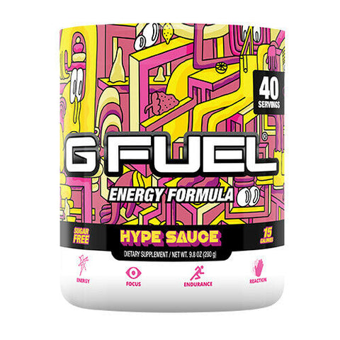 G Fuel HYPE SAUCE (Raspberry Lemonade) Tub (40 Servings)