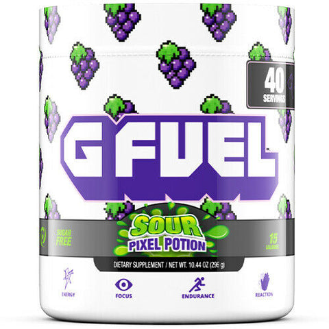G Fuel Sour Pixel Potion (Sour Grape) Tub (40 Servings)