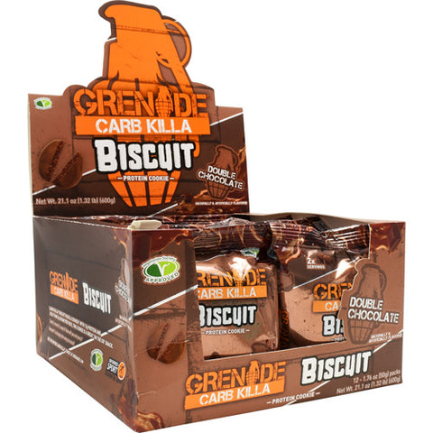 Grenade Carb Killa High Protein Biscuit Double Chocolate (12 Packs)