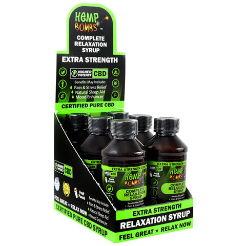 Hemp Bombs Complete Relaxation Syrup Fruit Punch 6 ea