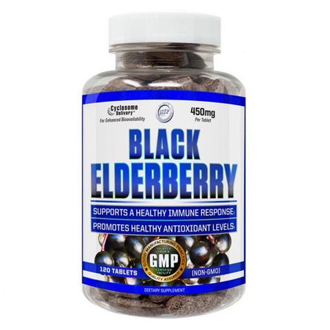 Hi-Tech Pharmaceuticals Black Elderberry 450mg (120 Tablets)