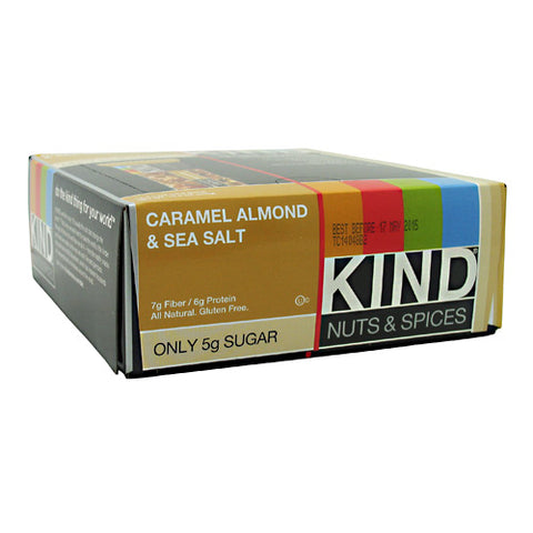 Kind Nuts & Spices Bars 12 ea — Caramel Almond & Sea Salt