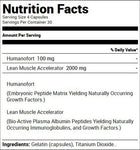 Labrada Nutrition Humanogrowth (120 Capsules) Nutrition Facts