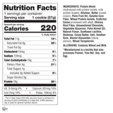 Lenny & Larry's The BOSS! Cookie Triple Chocolate Chunk (2oz - Box of 12) Nutrition Facts