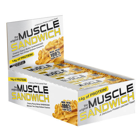 Muscle Sandwich Protein Bar Original Chocolate (12 Bars)