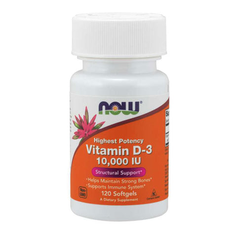 NOW® Foods Vitamin D-3 10,000 IU (120 Softgels)