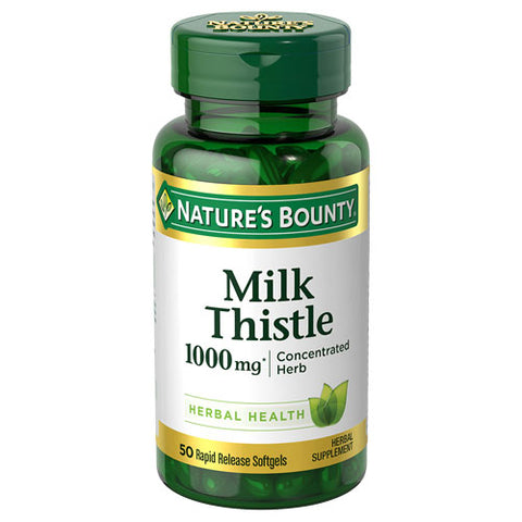 Nature's Bounty Milk Thistle 1000 mg 50 Rapid Release Softgels