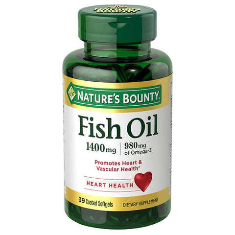 Nature's Bounty Fish Oil 1,400 mg (39 Coated Softgels)