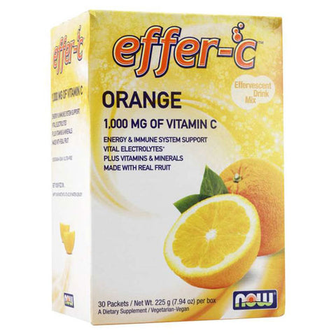 NOW® Foods Effer-C Orange Packets (30 Packets)