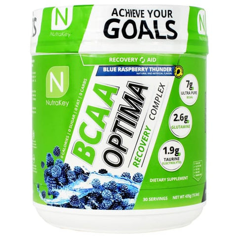 Nutrakey BCAA Optima Blue Raspberry Thunder (30 Servings)