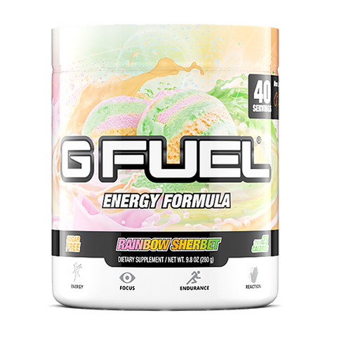 G Fuel Rainbow Sherbet Tub (40 Servings)