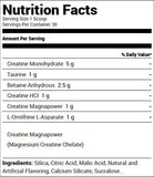 Redcon1 Tango Creatine Recovery Solution Grape (30 Servings) Nutrition Facts