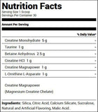Redcon1 Tango Creatine Recovery Solution Strawberry Kiwi (30 Servings) Nutrition Facts