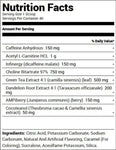 Redcon1 Double Tap Powder Cola (40 Servings) Nutrition Facts