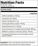 Redcon1 Double Tap Powder Strawberry Mango (40 Servings) Nutrition Facts